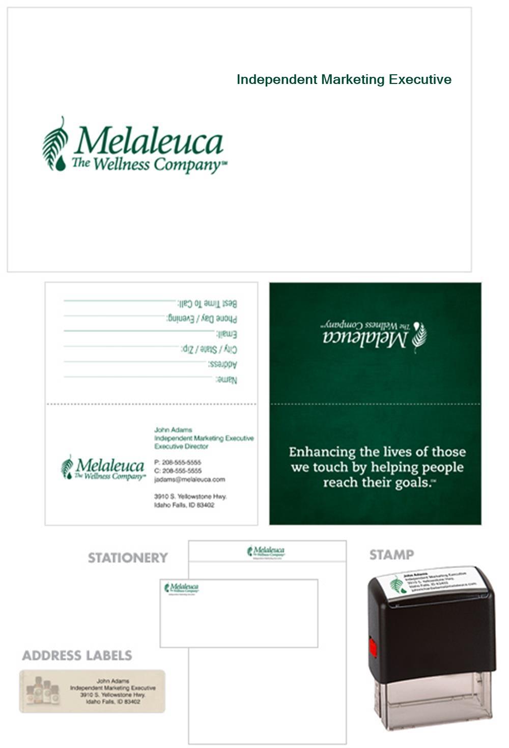 Melaleuca Business Kit - Tent Style, Green Mission Statement - Melaleuca