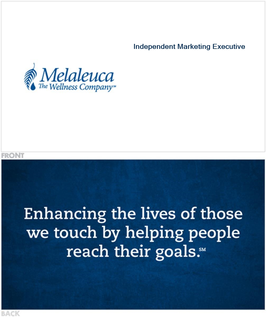 Melaleuca Business Cards - Mission Statement, Blue - Melaleuca